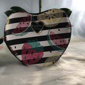 Betsey Johnson Fruit Striped Coin purse 🍋🍓🍉♥️